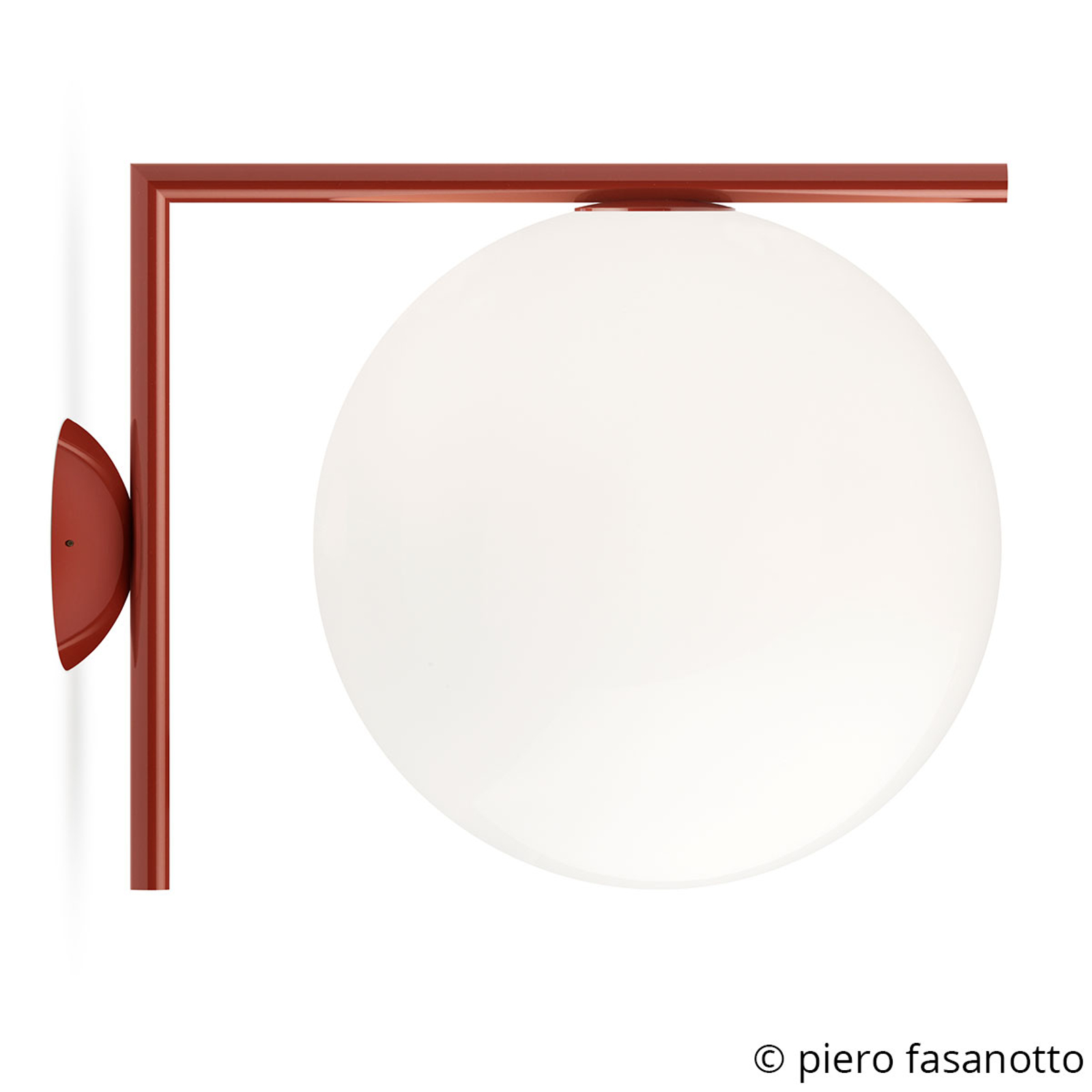 FLOS IC C/W2 Wandleuchte, burgunder-rot Ø 30 cm