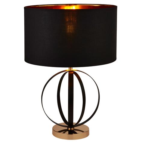 Lámpara de pie Orbit, negro y dorado