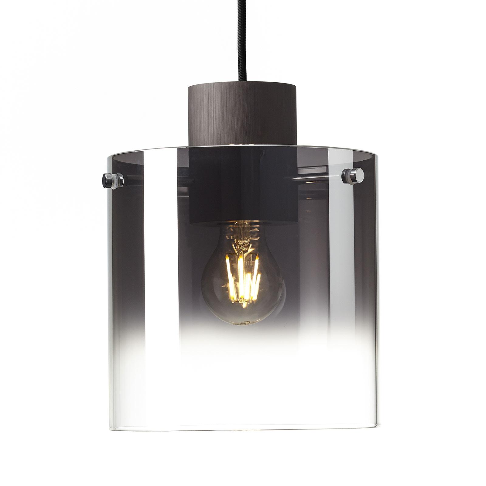 Hanglamp Beth met rookglaskap, 1-lamp