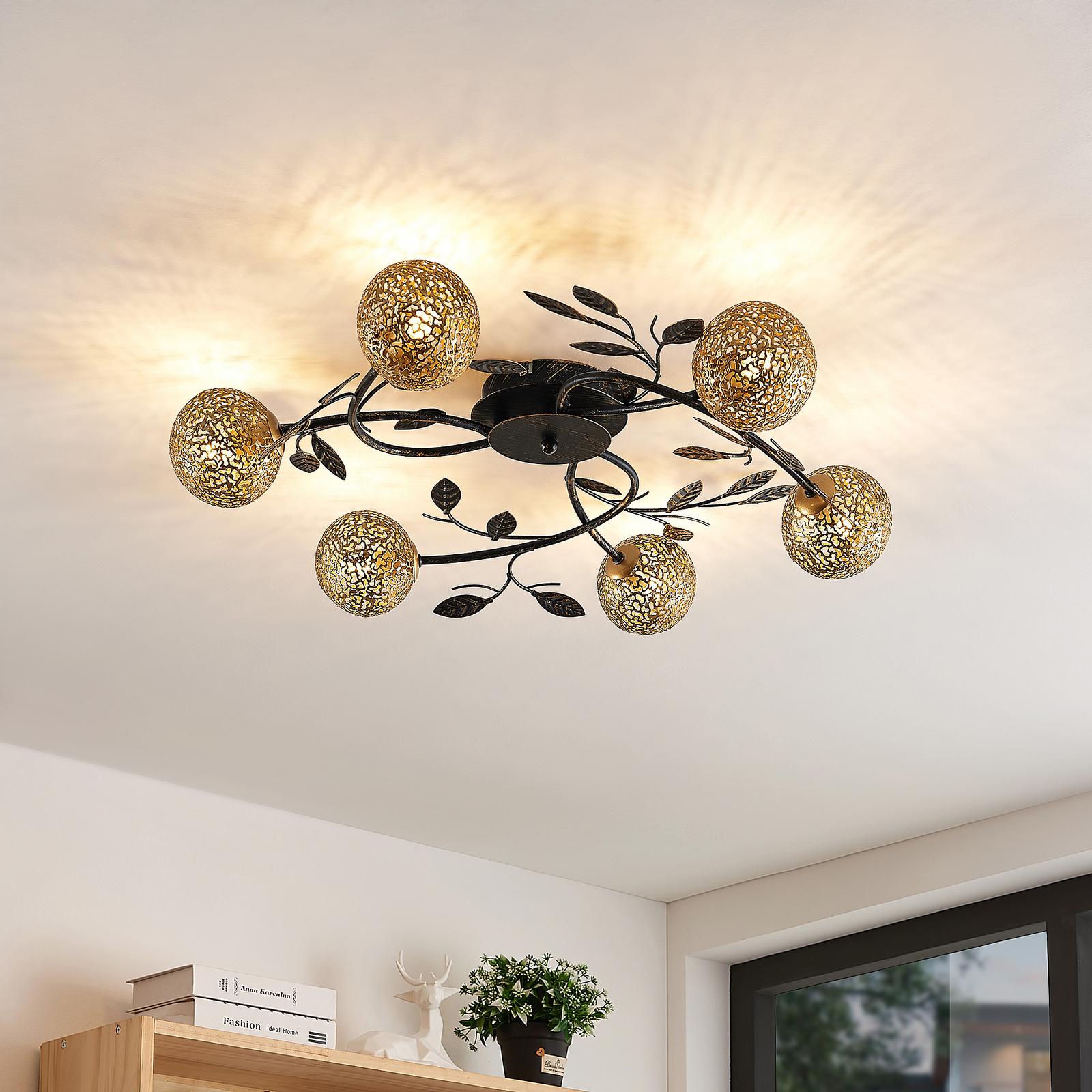 Lucande Evory taklampa rund 6 lampor