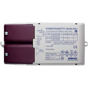 - Elektronisk ballast PTi 70/220-240 I