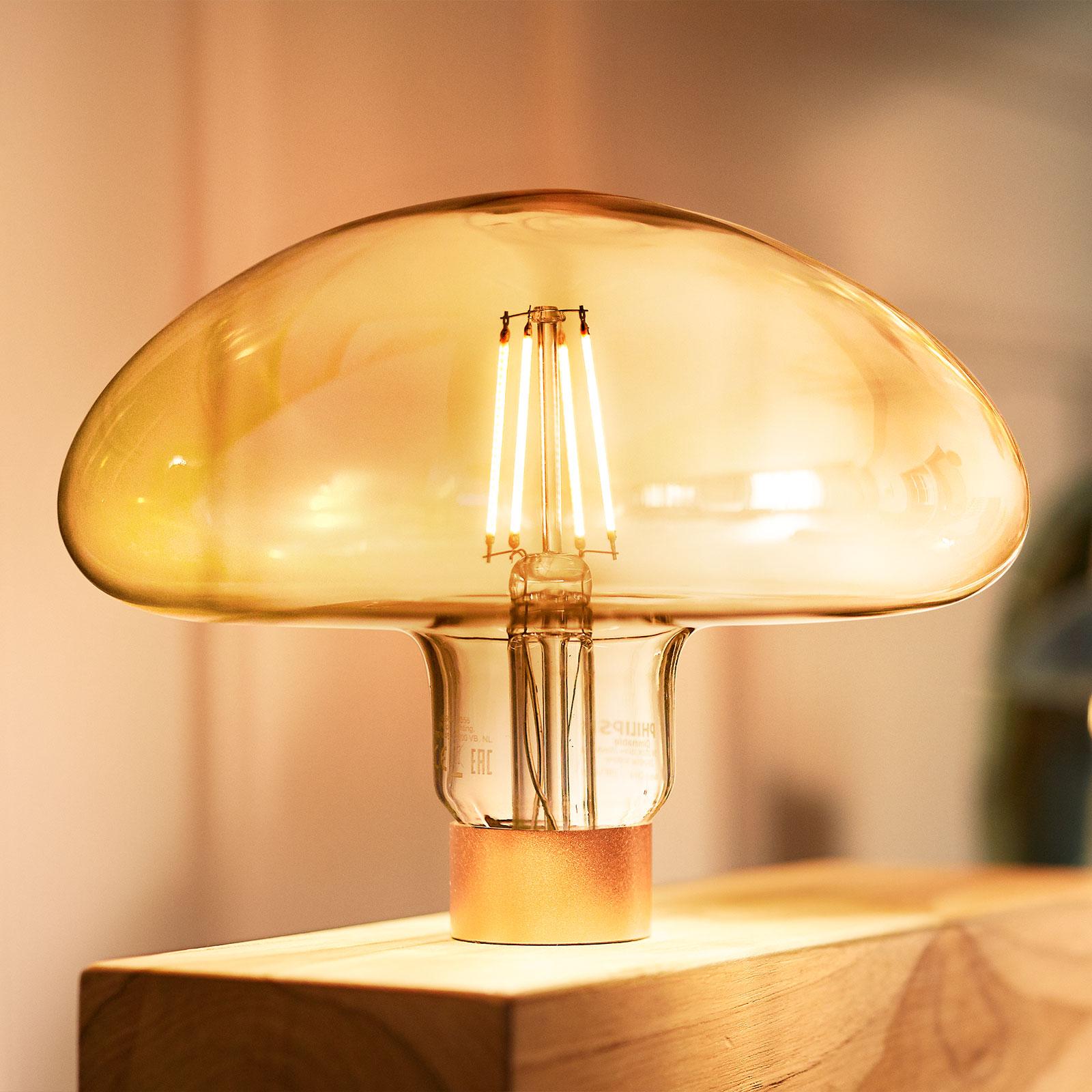 Philips Classic Mushroom gold LED-Lampe E27 5W