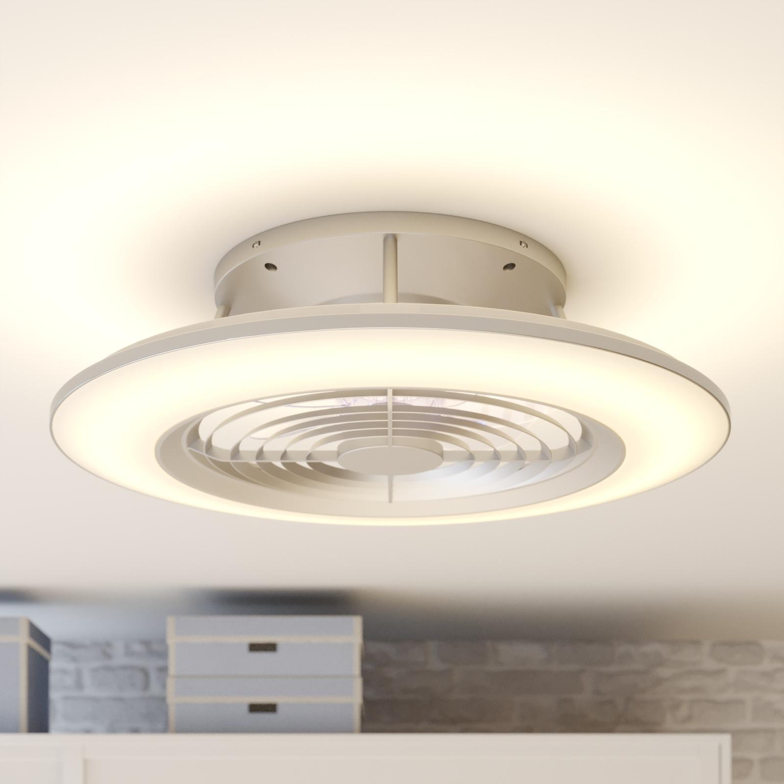 Arcchio Fenio ventilador de techo LED, plata
