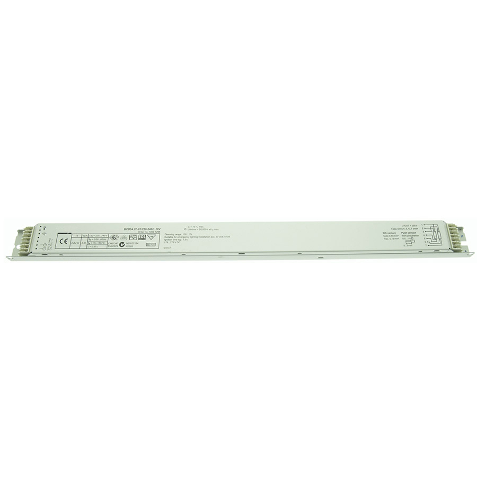 BE dimmable 2 x 54W T5 BCD54.2F-01/220-240/1-10V