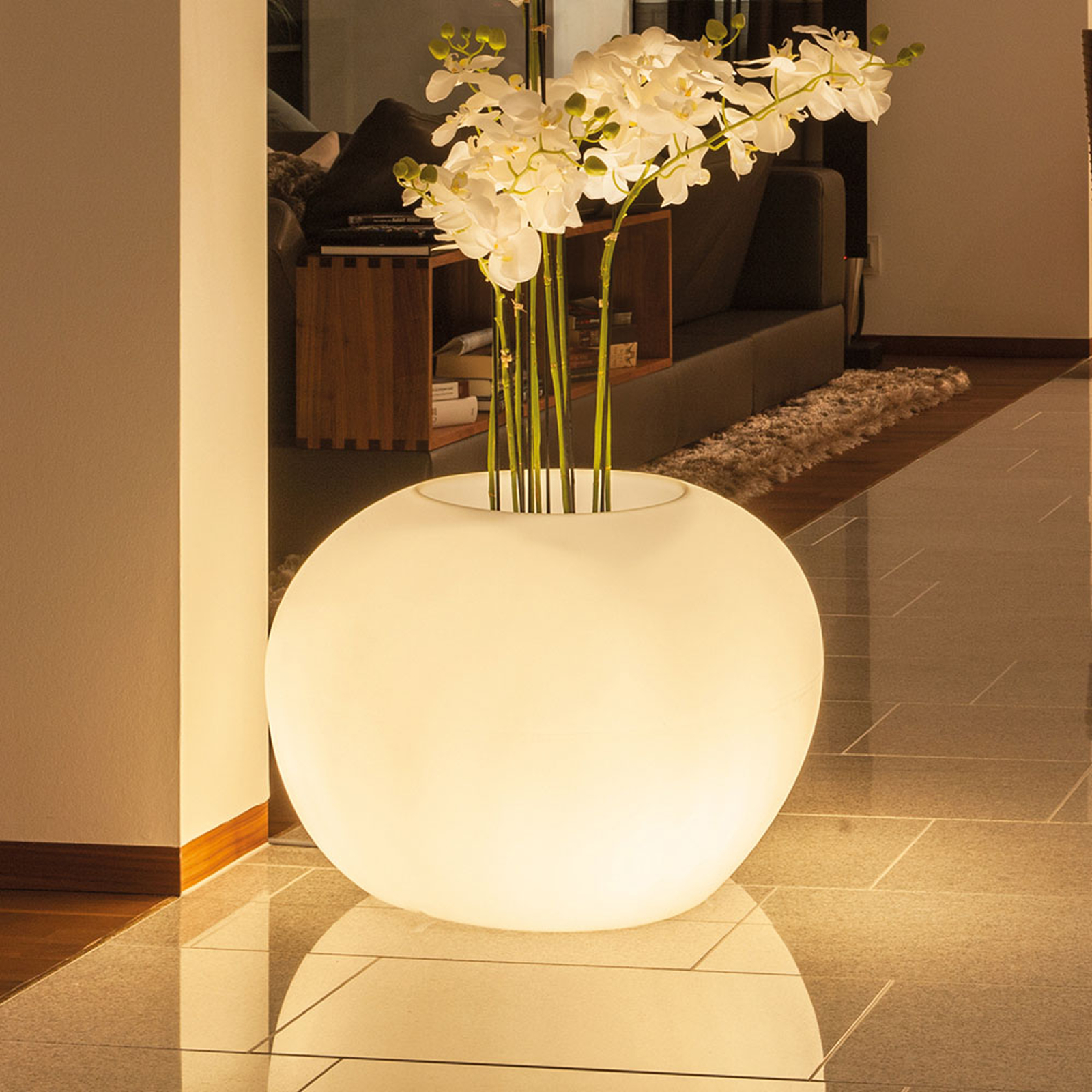 Storus IV dekolampe LED RGB+CCT, beplantes, hvid