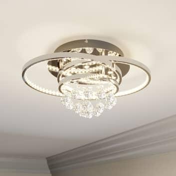 Lucande Keely LED plafondlamp kristal