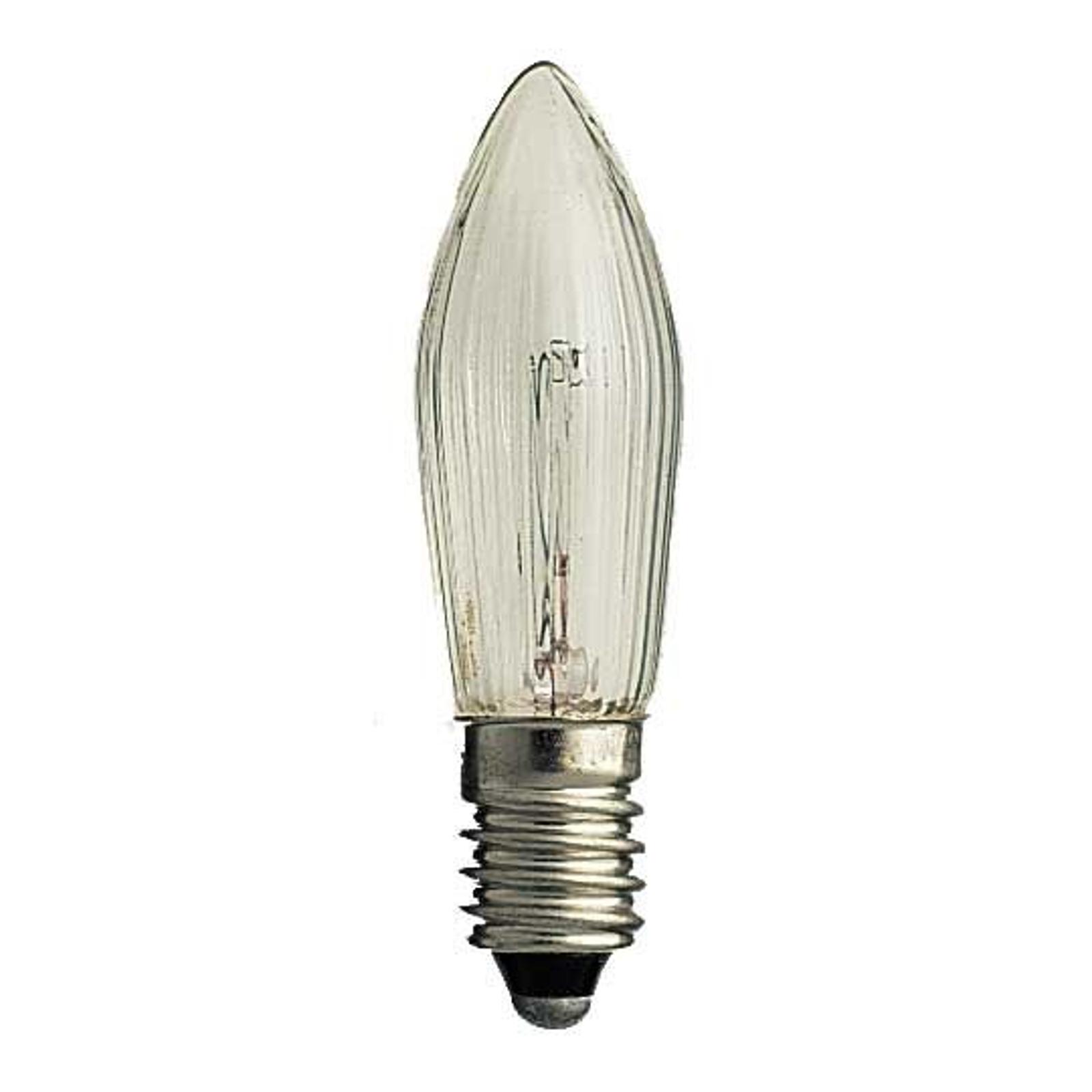 E10-55V-reservelamp van 3W, 3 st, kaarsvorm