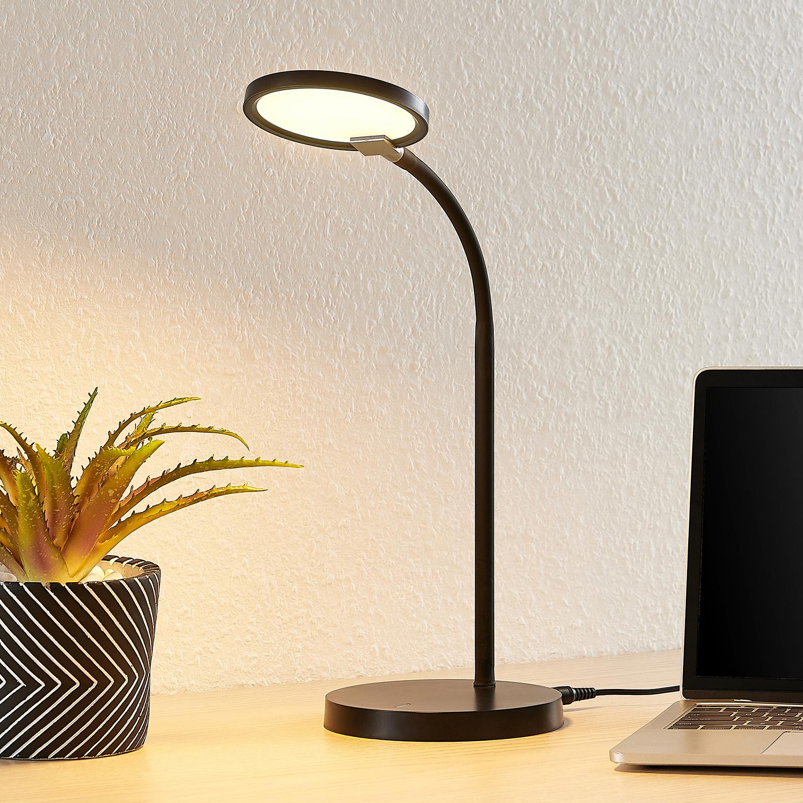 Lindby Binera -LED-pöytälamppu, 3-step-dimmer