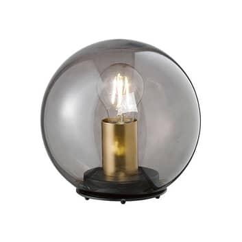 Bordlampe Dini med kuleskjerm av glass