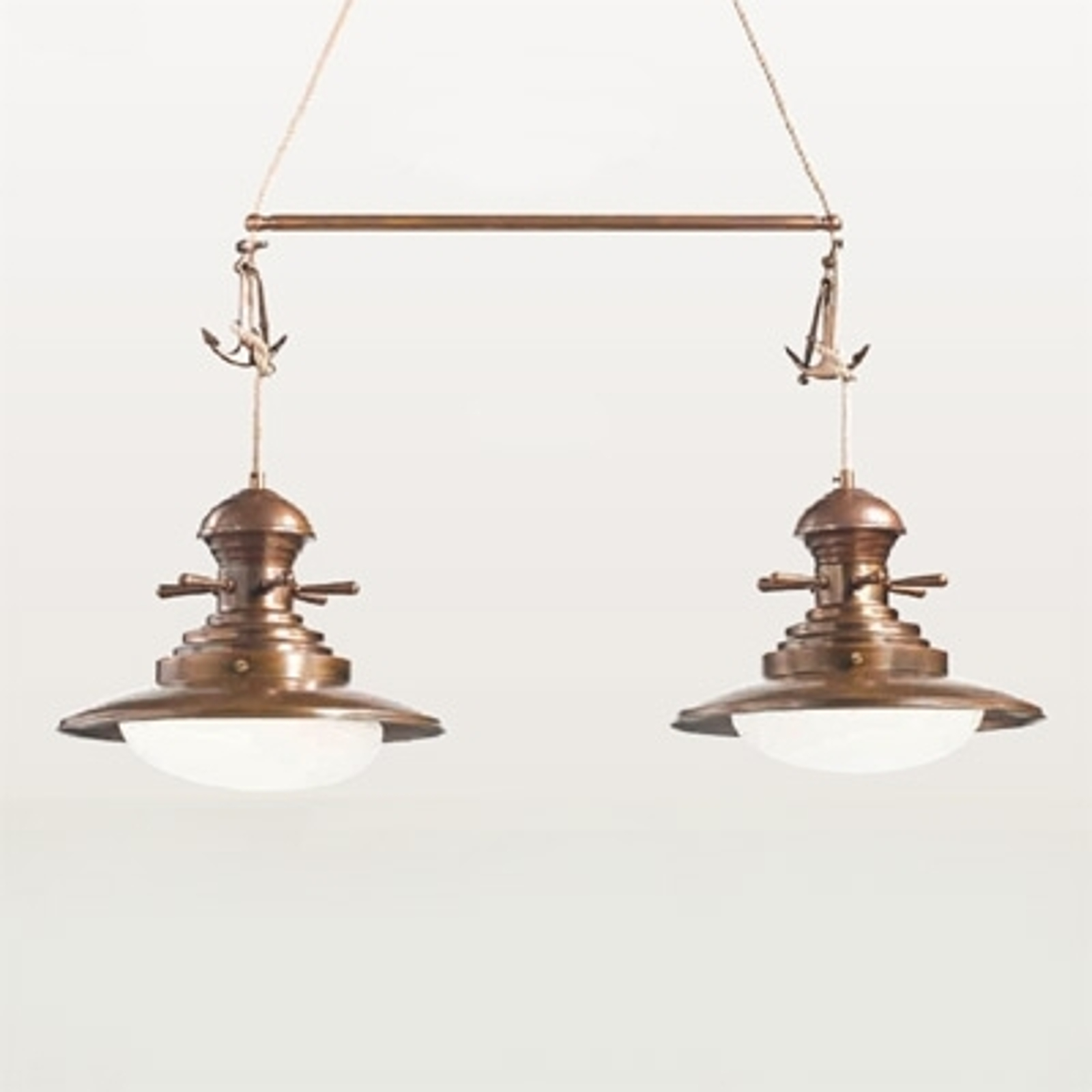 Riippuvalaisin Baia, 2-lamppuinen, kiillotettu