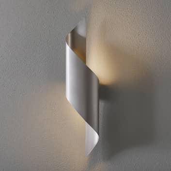 Applique LED Fanes, alta 50 cm, grigio perla