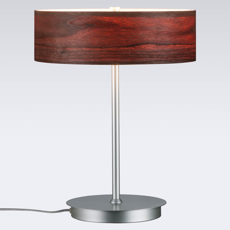 Liska - snygg bordslampa med skärm i trä