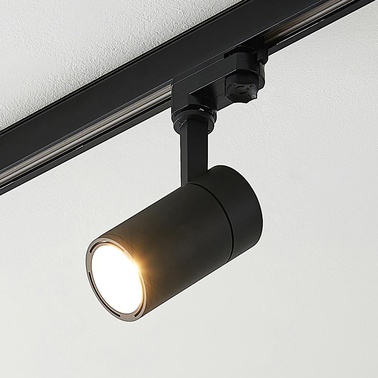 Arcchio Cady spot LED do szyny, czarny 15° 12W