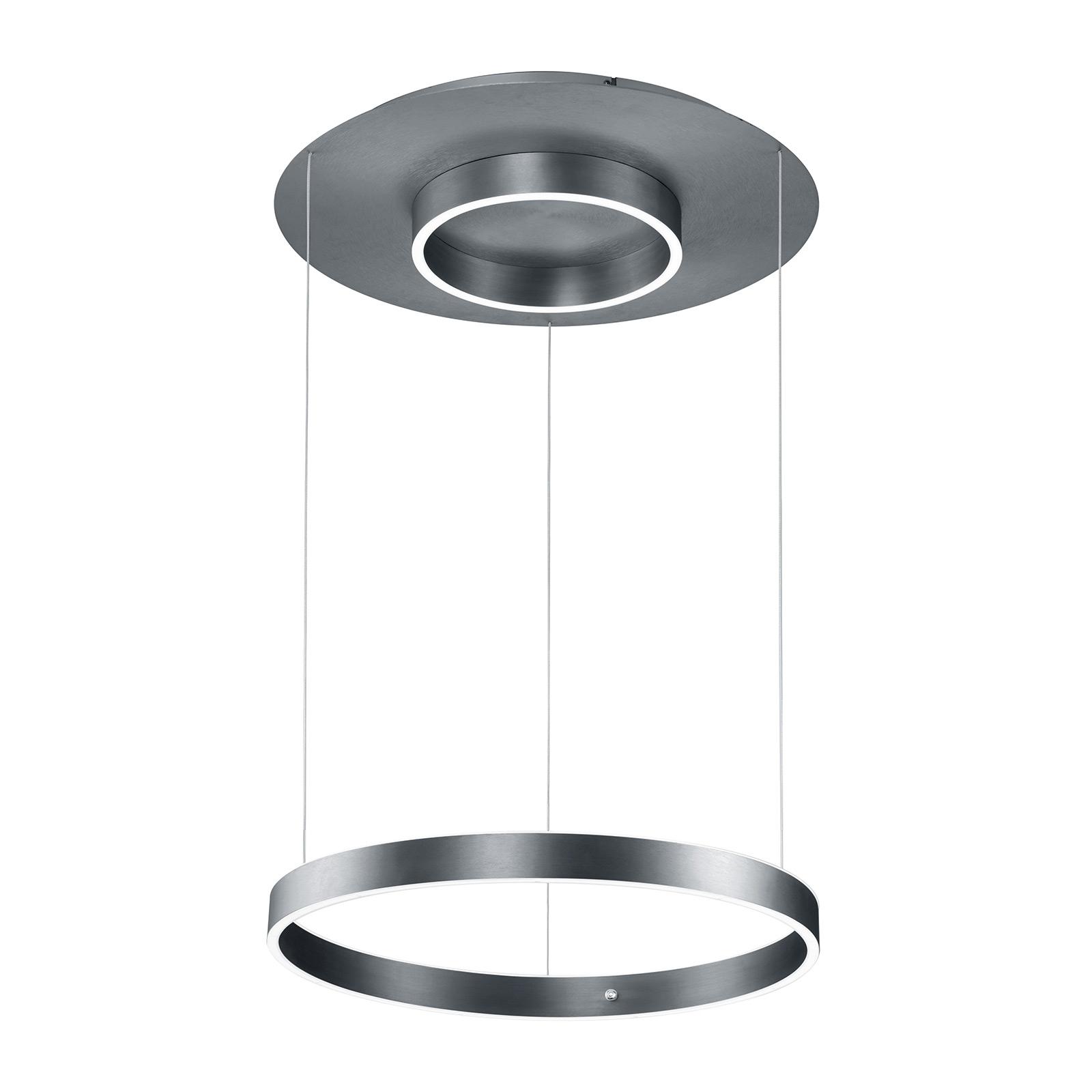 B-Leuchten Delta LED hanglamp 60cm, antraciet