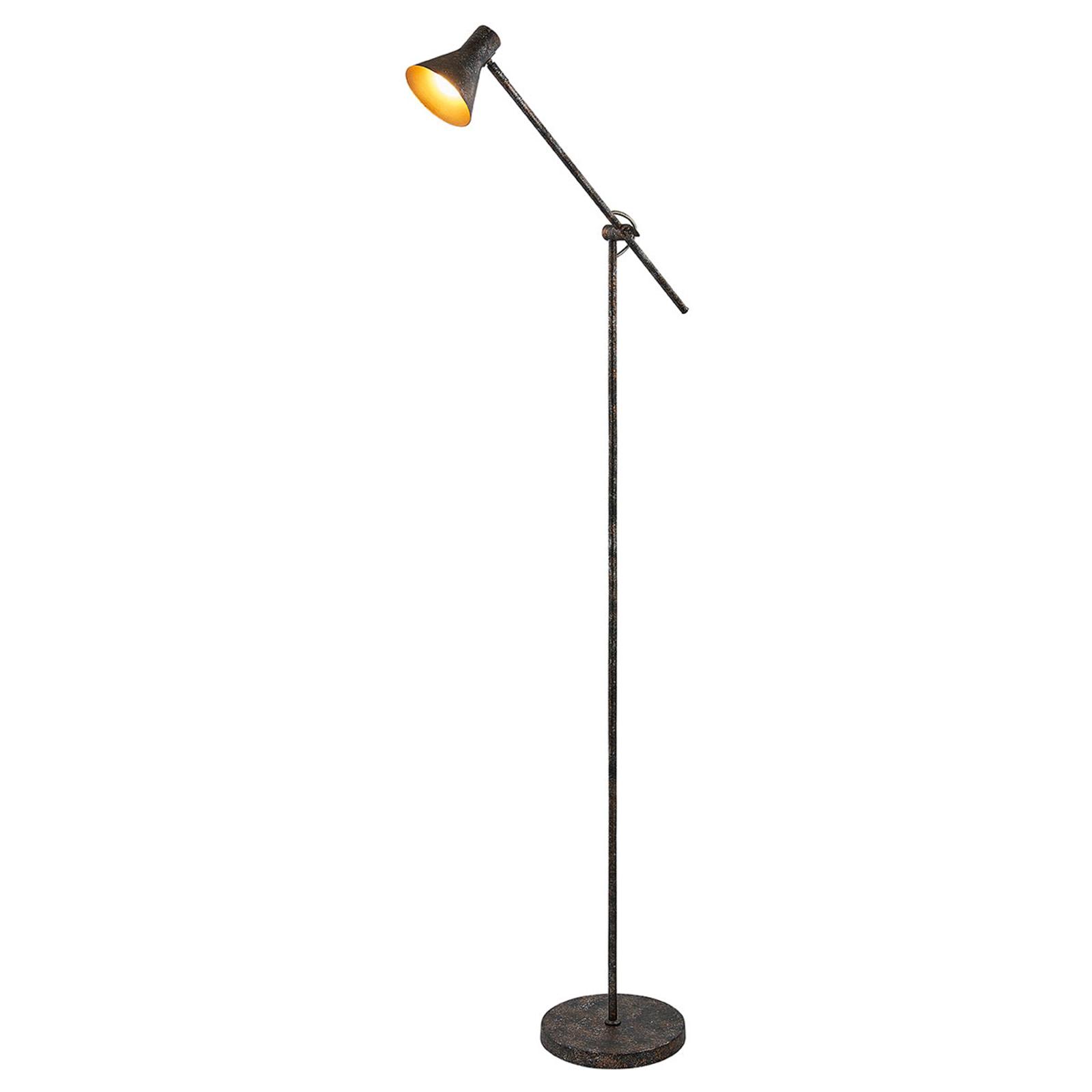 Easydim-LED-Stehlampe Zera, rostfarben und golden