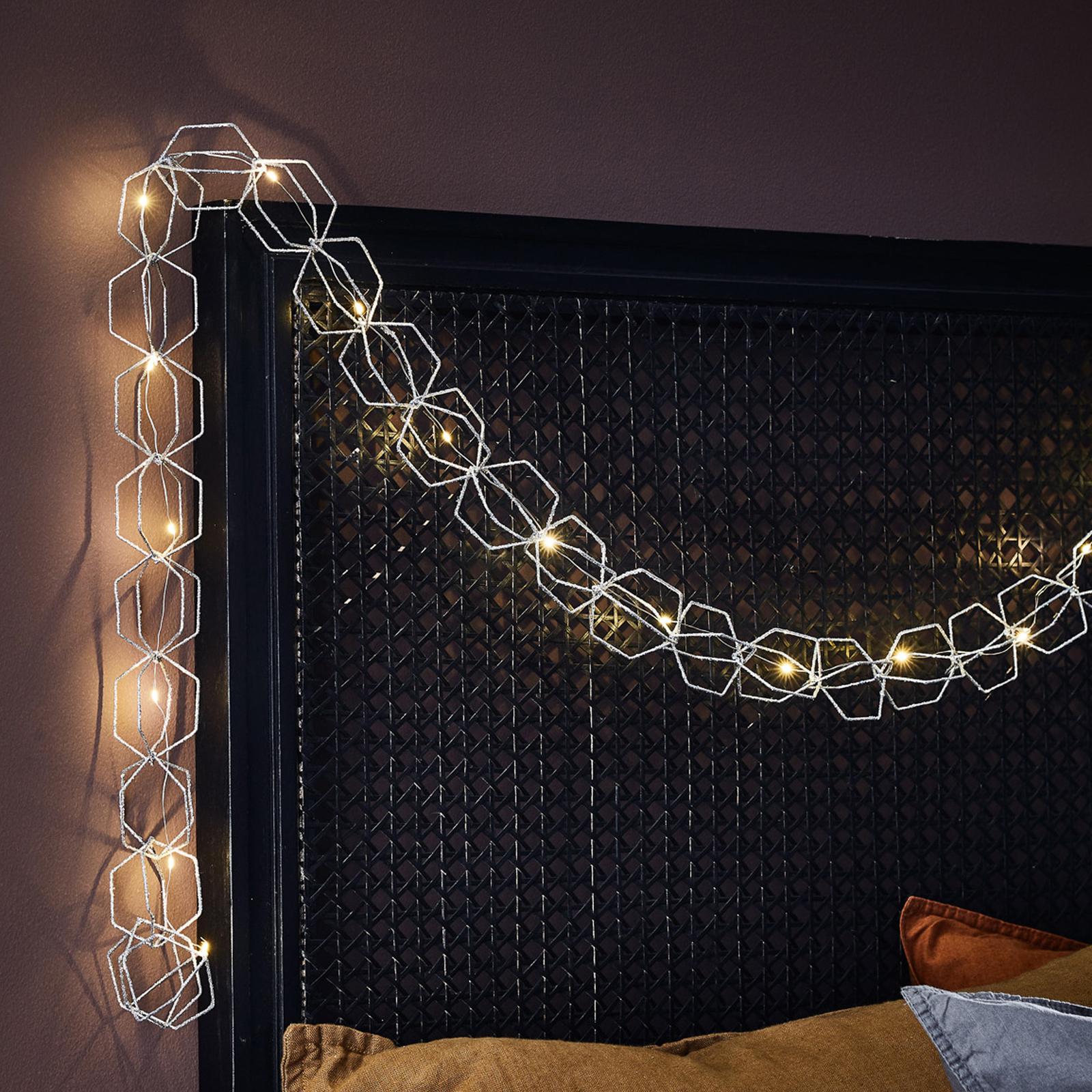 LED-ljusslinga Serve, 20 lampor, silver