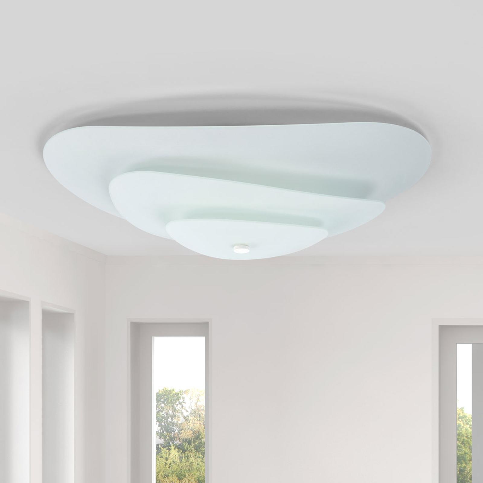 Moledro – lampa sufitowa z trzyczęściowym kloszem