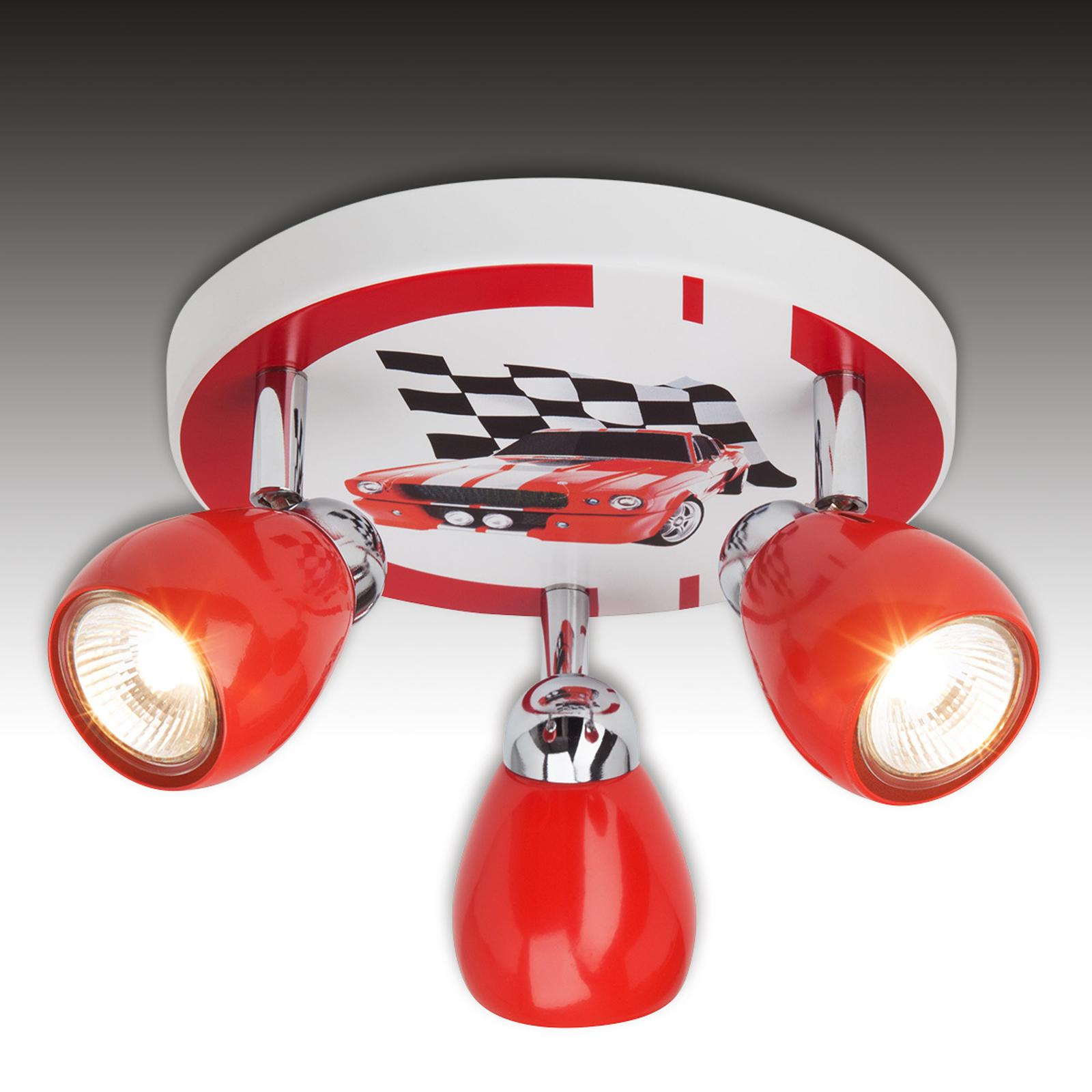 Racing - lampa sufitowa do pokoju dziecięcego