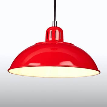 Červené závěsné světlo Franklin v retro stylu
