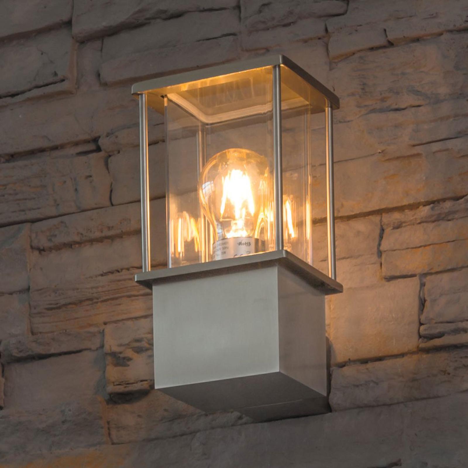 Vägglampa Rhodos av rostfritt stål