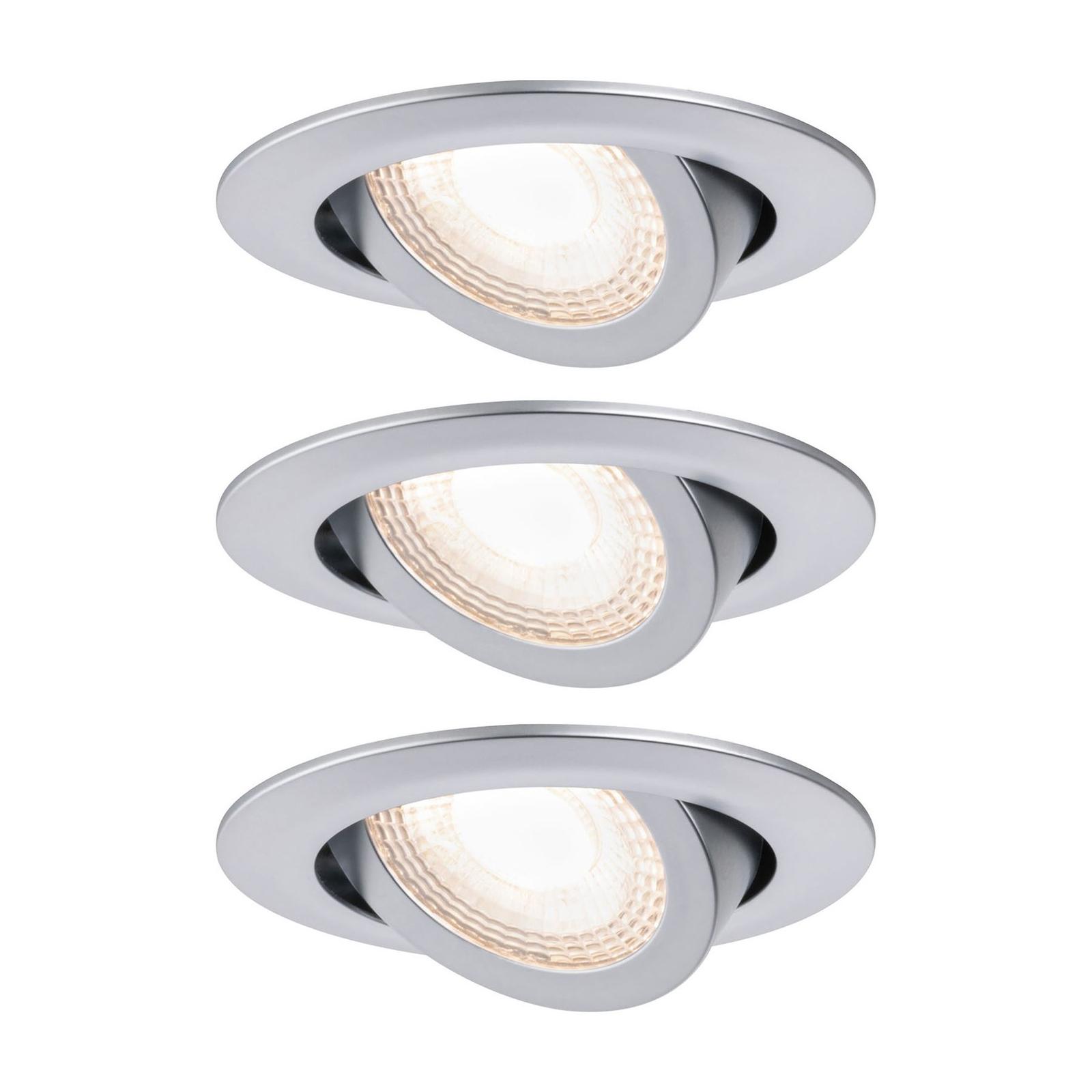 Paulmann 92986 LED-downlight 3 x 6 W, krom hvit