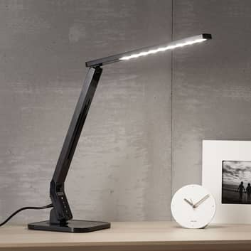 Lampada da scrivania LED nera Eleni