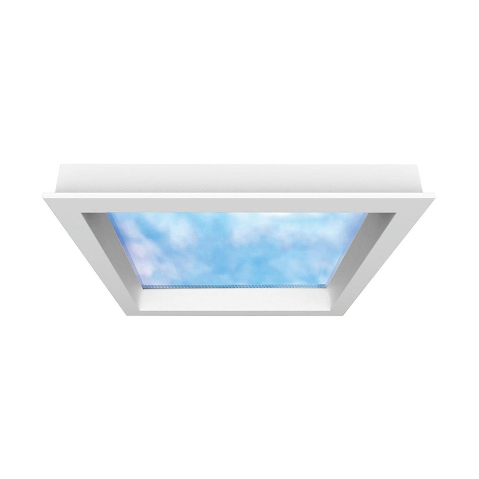 LED-panel Sky Window 60x60 cm med monteringsramme