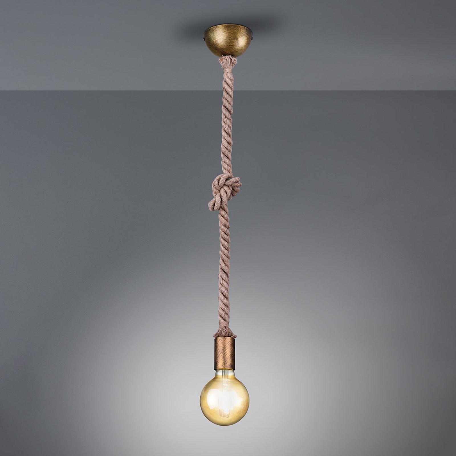 Pendellampa Rope med dekorativt rep 1 lampa
