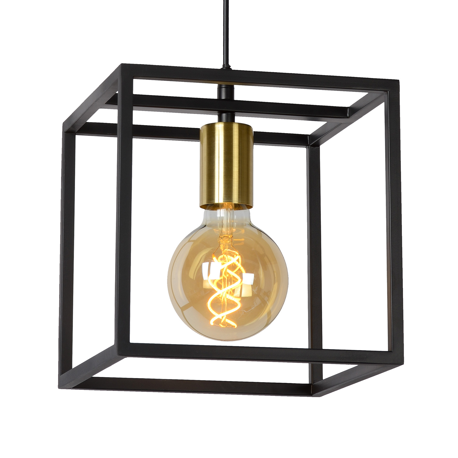 Lampa wisząca Ruben, czarna