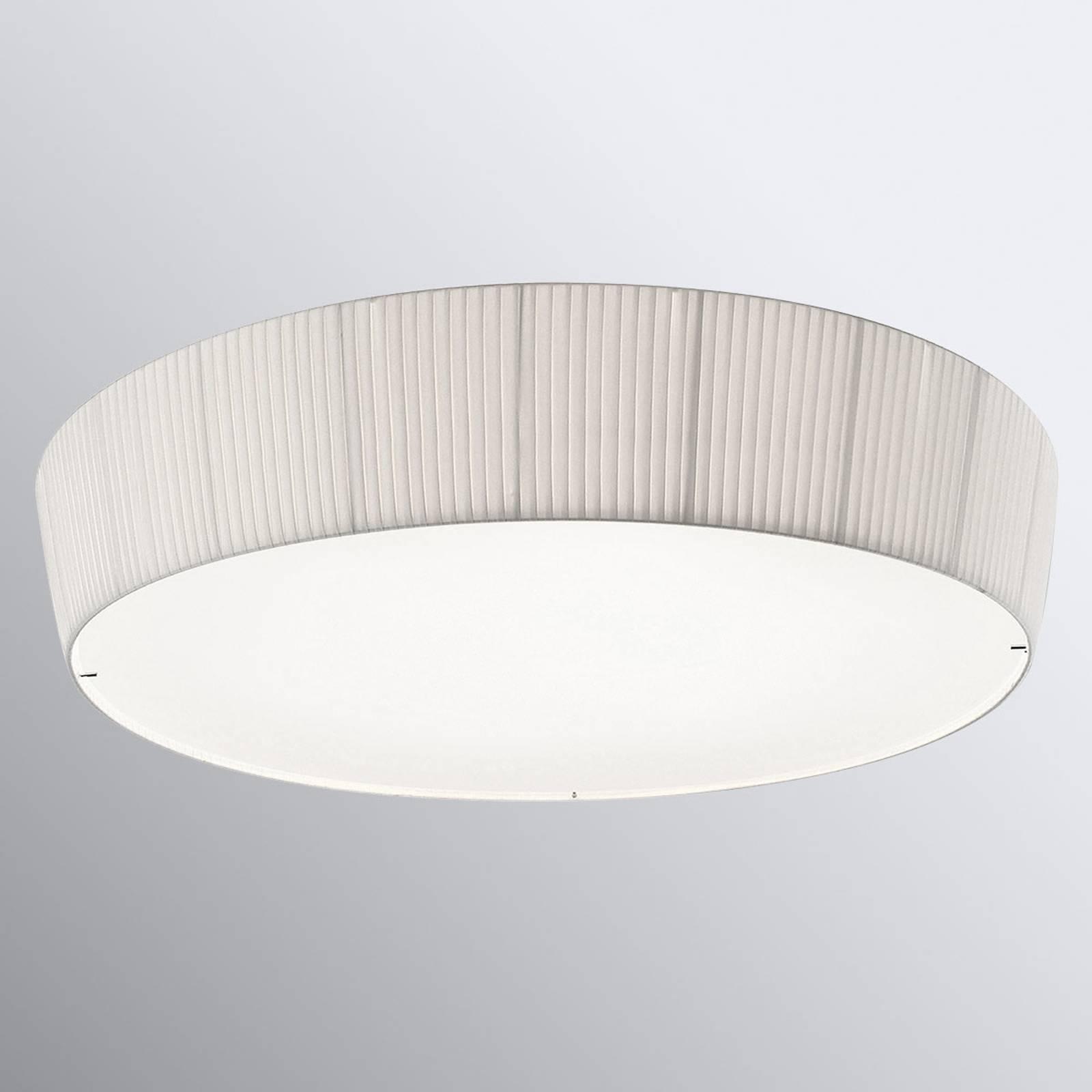 Bover Plafonet 95 - Textil-Deckenlampe, Band weiß
