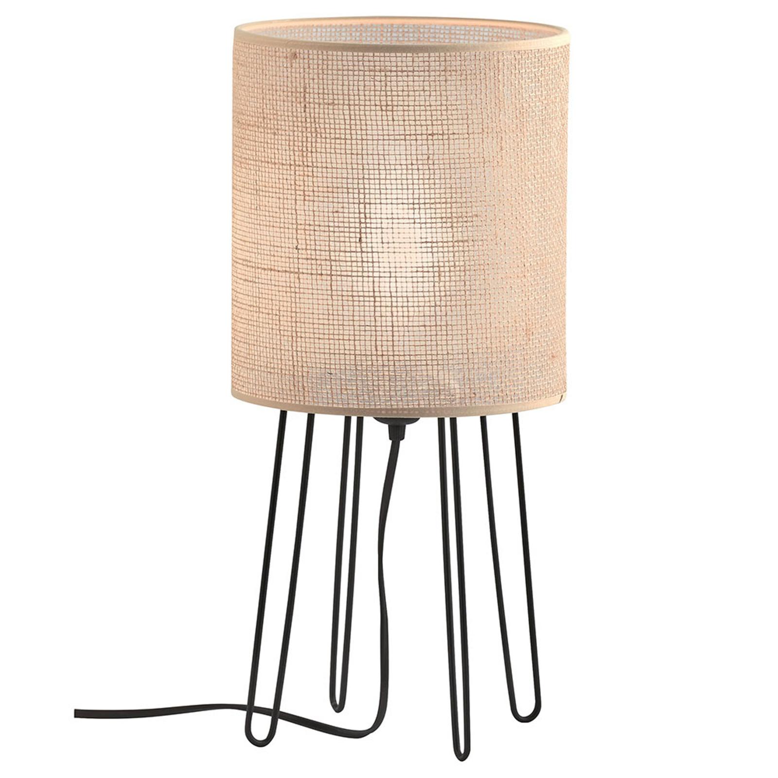Lampa stołowa Senso z kloszem tekstylnym