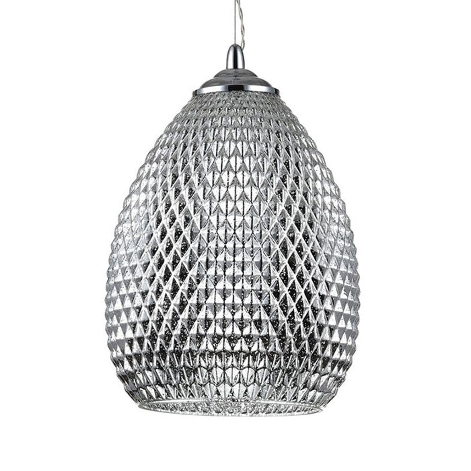 Lampa wisząca Moreno szklane ornamenty, Ø 22cm