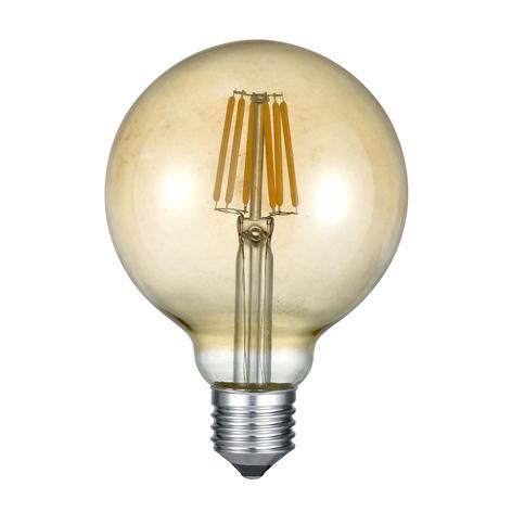 Lampadina LED a bulbo E27 6W 2.700K ambrata