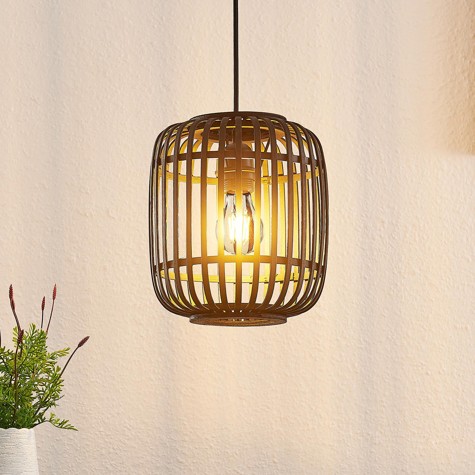 Lindby Canyana lampa wisząca z rattanu, czarna