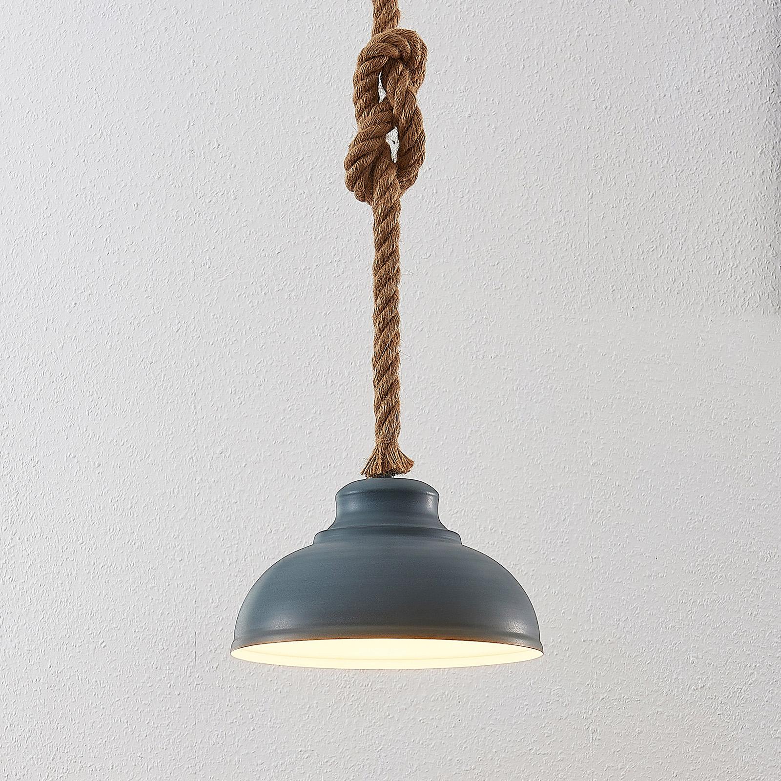 Lindby Chaby beton lampa wisząca, 1-punktowa
