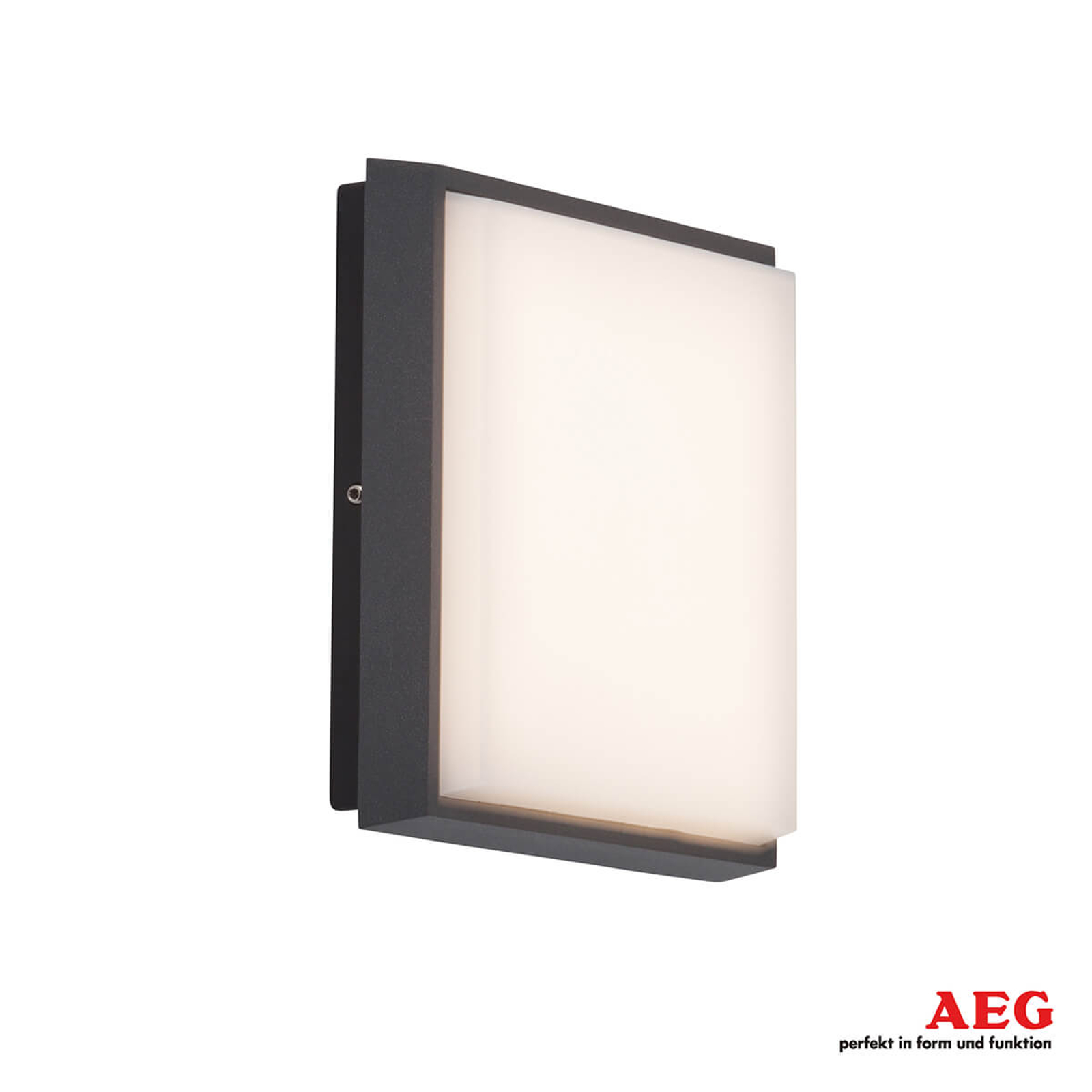AEG Letan Square - eckige LED-Außenwandlampe 9 W