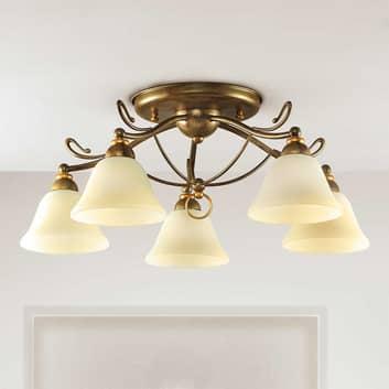 Antonio loftlampe med 5 lyskilder