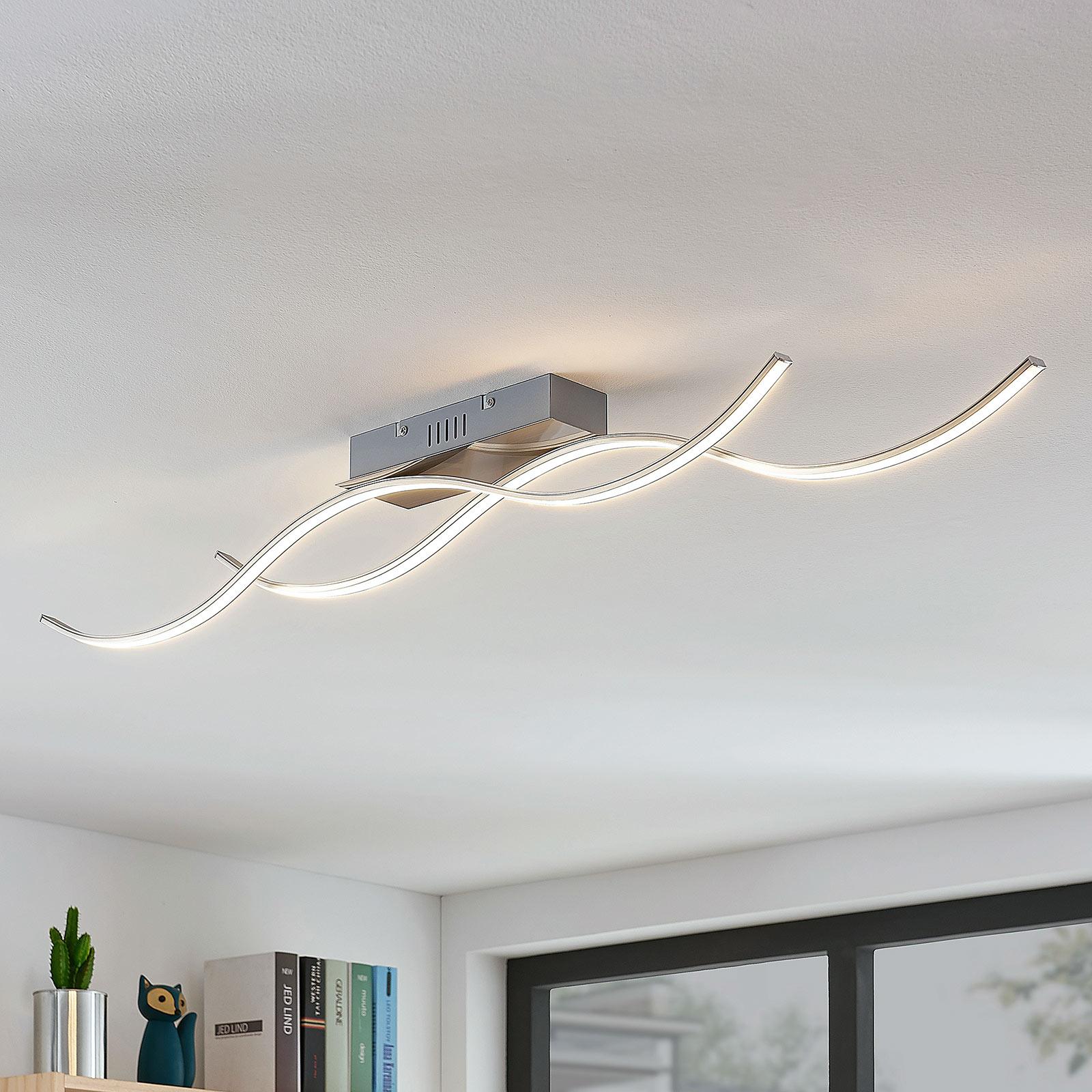 Plafonnier LED Safia forme ondulée à 2 lampes
