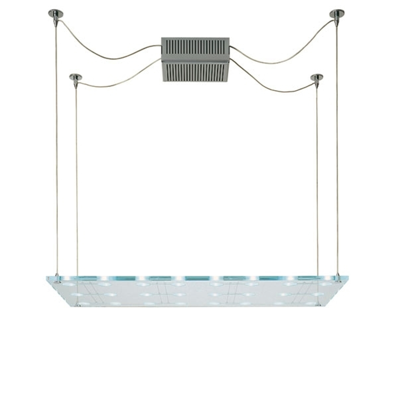 Fabbian Sospesa - závěsné světlo ze skla