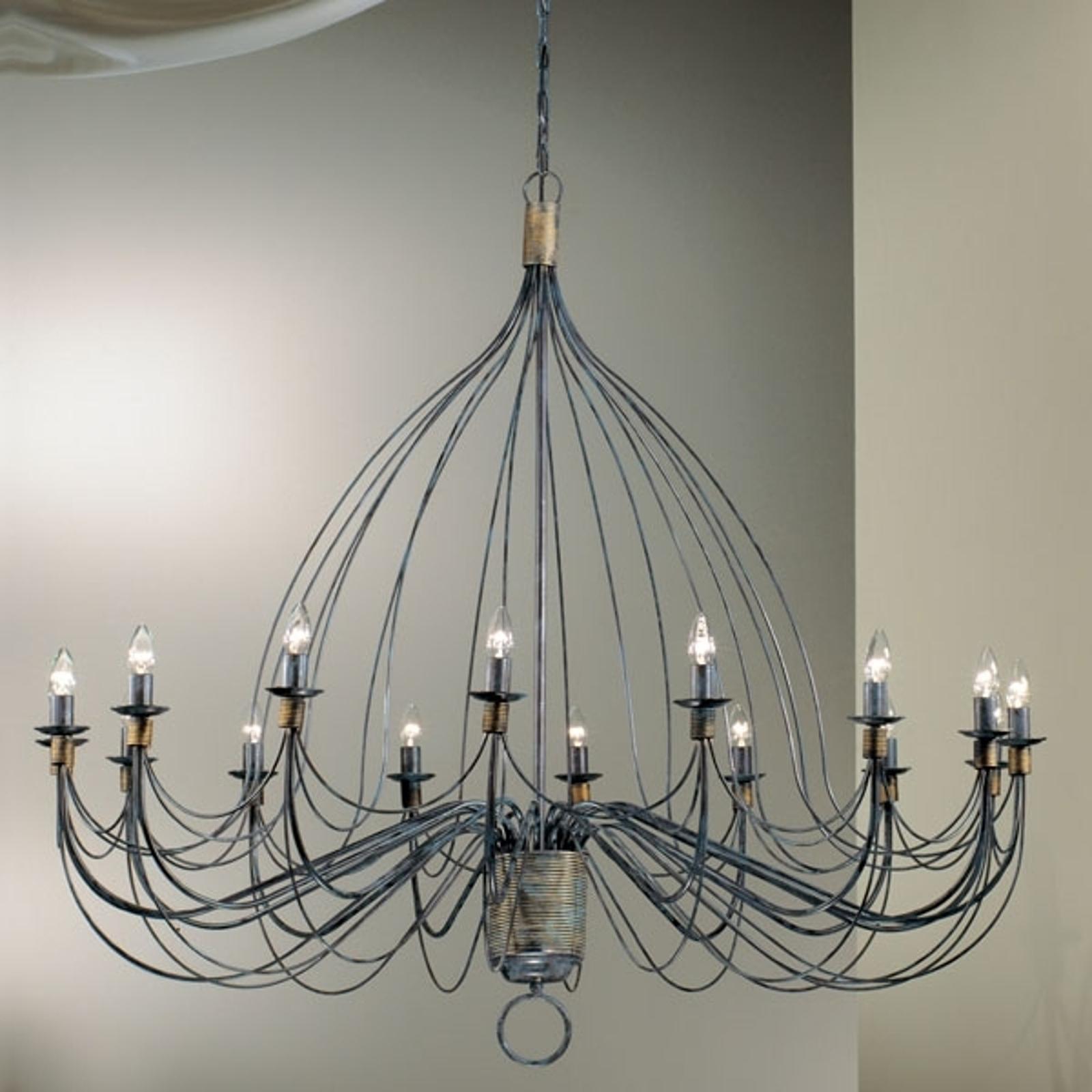 16 flammiger Design Leuchter in Schwarz oder Weiß