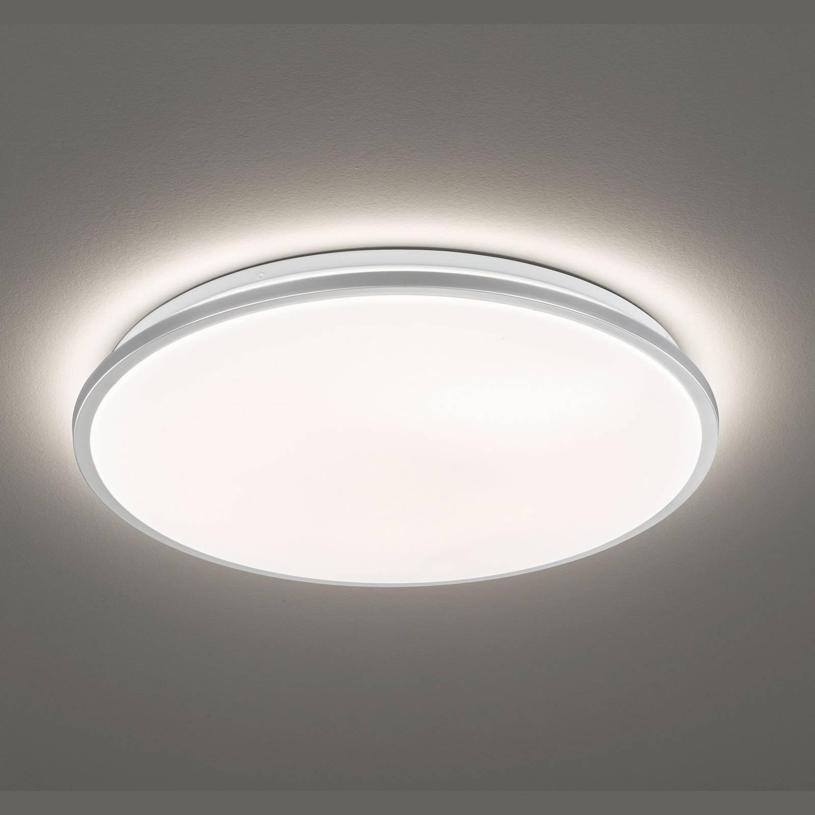 LED plafondlamp Jaso, dimbaar, Ø 40 cm, zilver