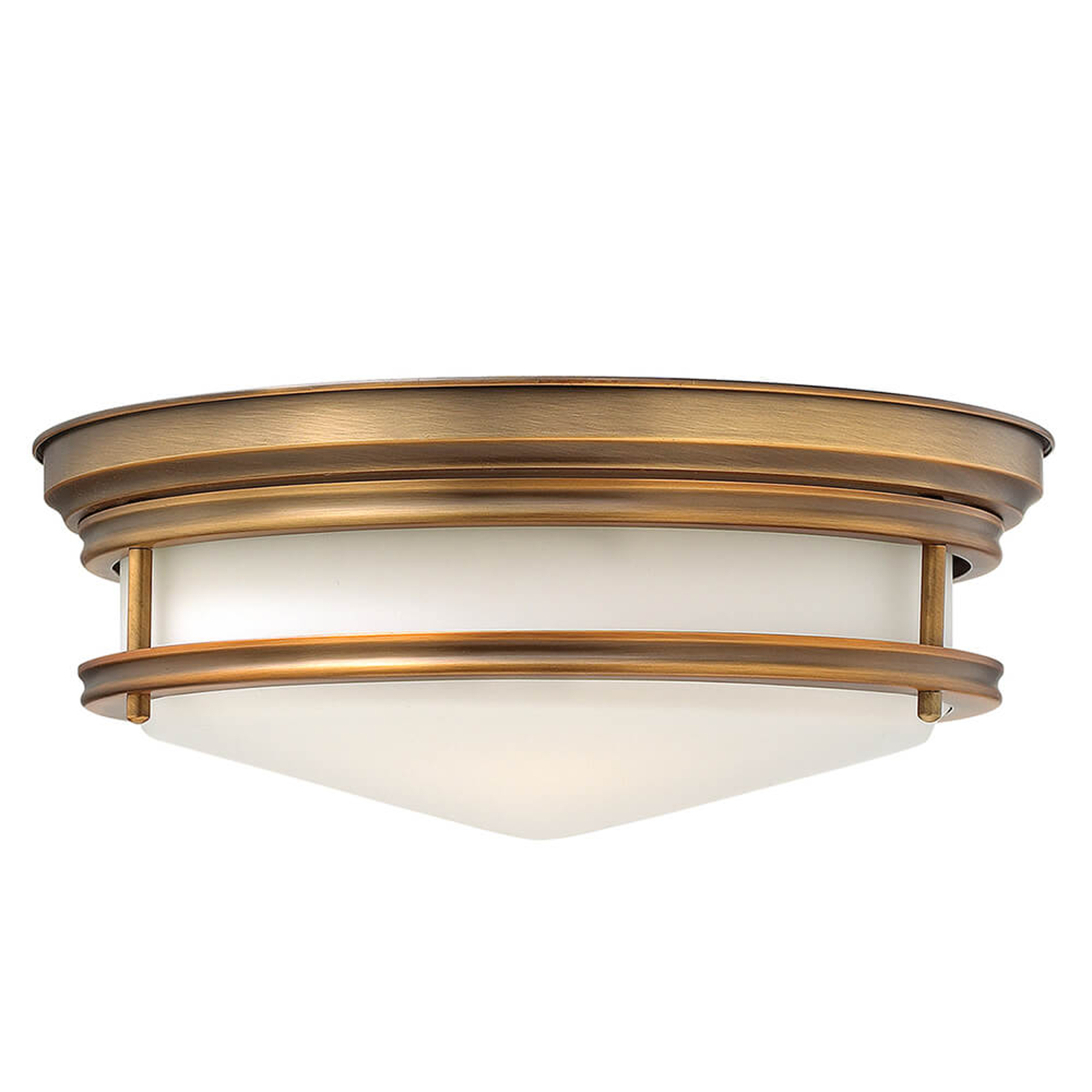 Plafondlamp Hadley geborsteld brons