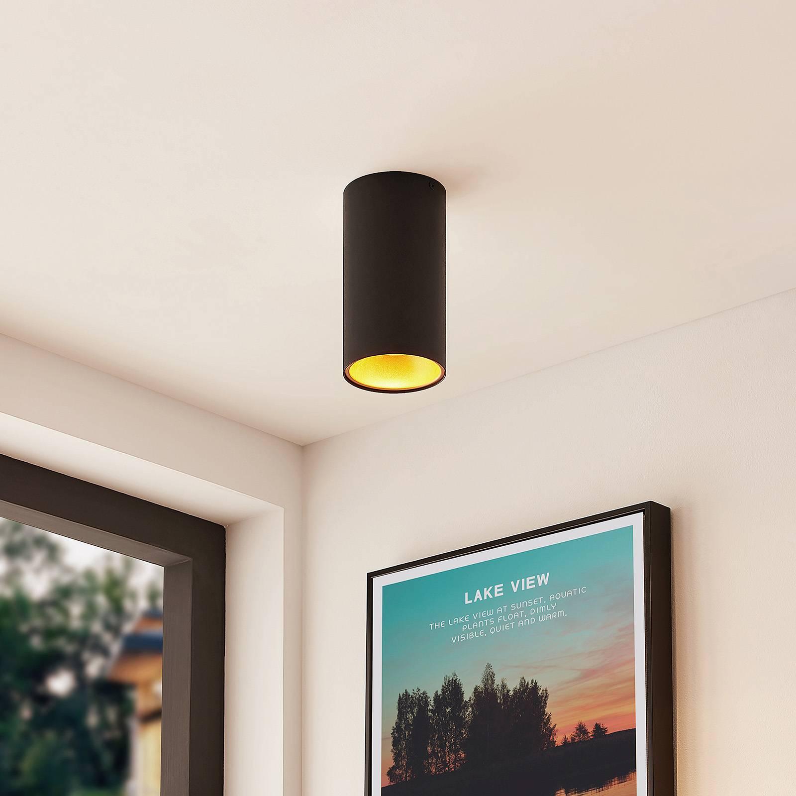 Arcchio Hinka lampa sufitowa okrągła 18 cm, czarna