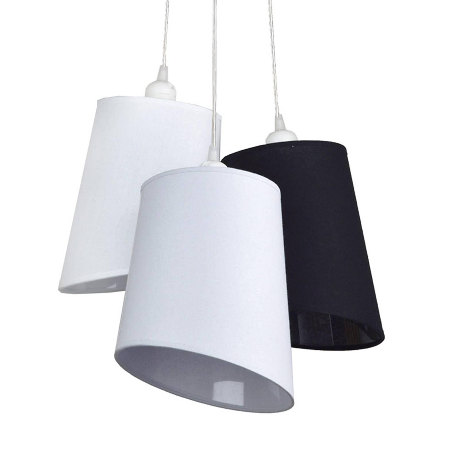 Hanglamp Verona 3-lamps wit/grijs/antraciet