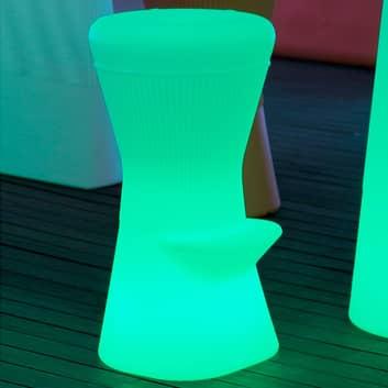 Newgarden Corfu LED-barstol med solcelle+batteri