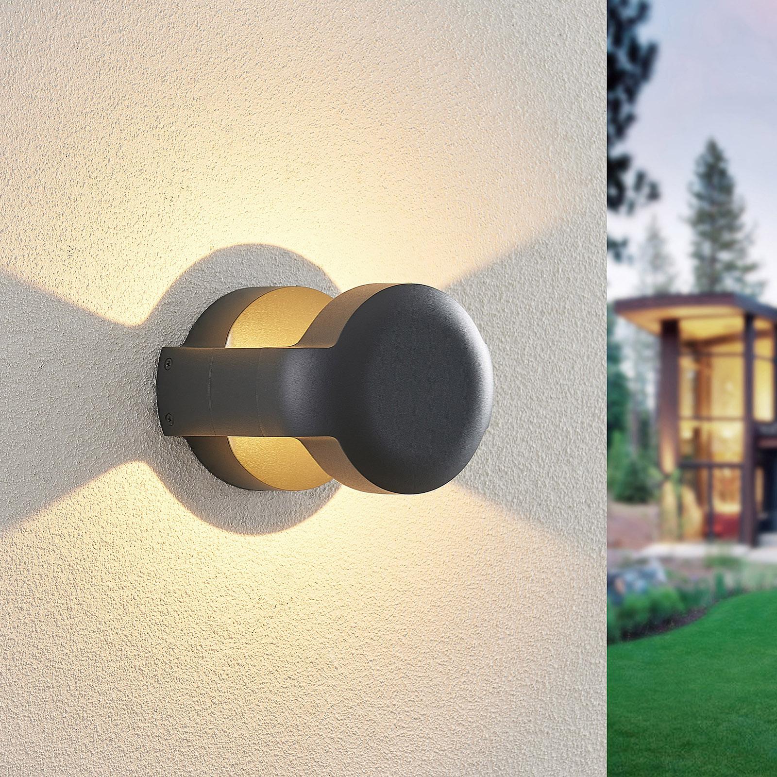 Lucande Habsa applique d'extérieur LED