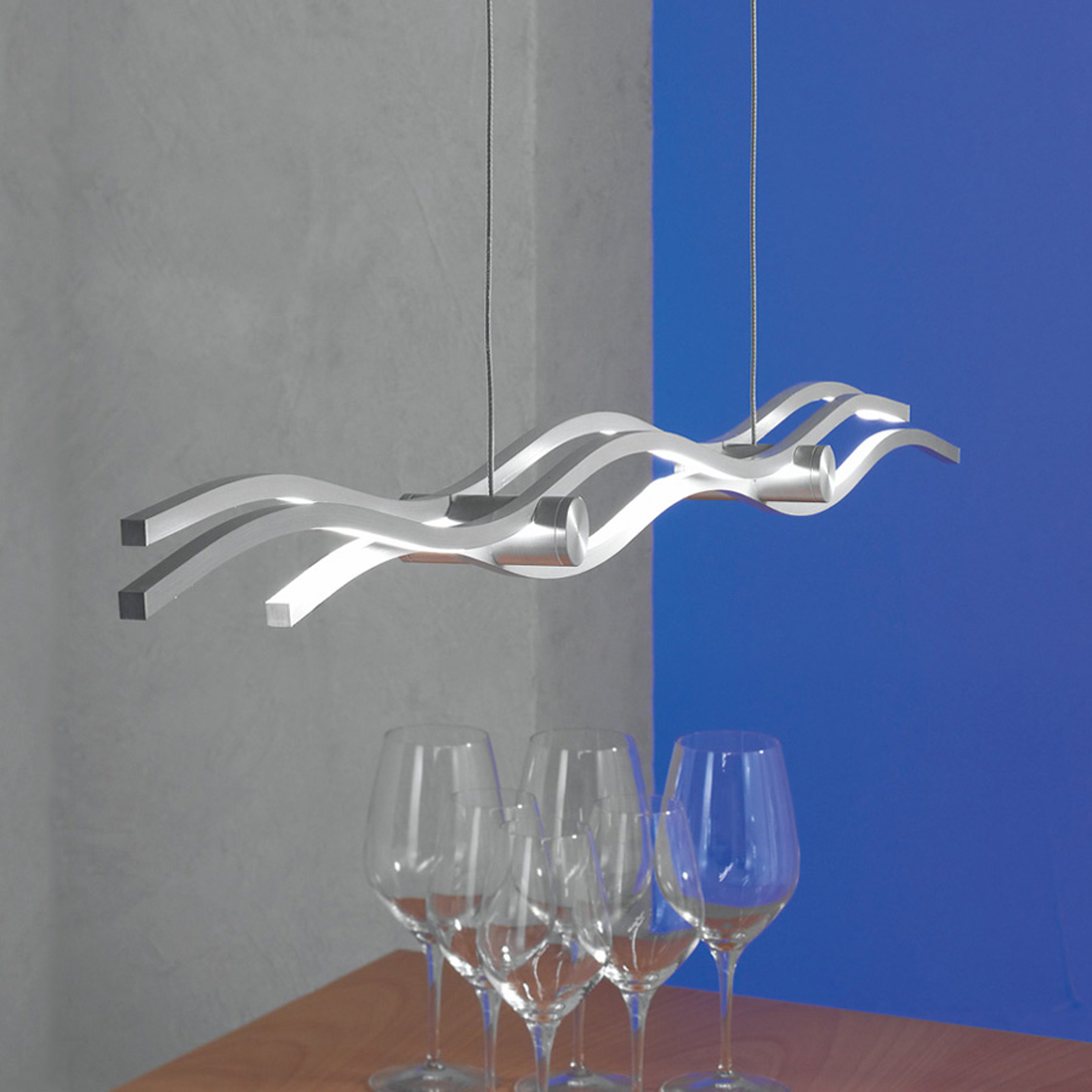 Escale Silk - závěsné světlo LED 120 cm