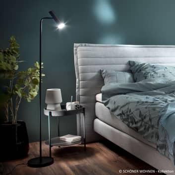 Schöner Wohnen Stina LED-gulvlampe, sort