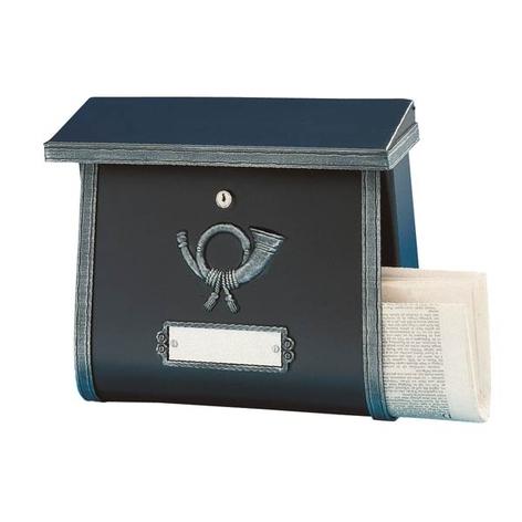 Rustikální poštovní schránka MULPI antická černá