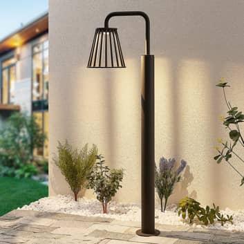 Lucande Miray utendørs LED-gatelampe, 100 cm